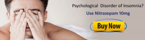 banner of a men having sleeping disorder (insomnia)